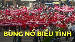 Bất ngờ nổ ra biểu tình cực lớn tại Sài Gòn - Tiểu thương chợ An Đông bãi thị đòi quyền lợi