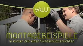 VALU Systemprofile - Montagebeispiele