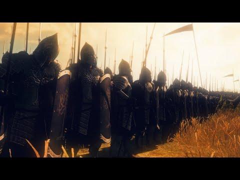 Gondor Vs Haradrim   12,000 Unit Cinematic Siege Battle   Total War Rise of Mordor  