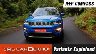 Jeep Compass Variants Explained | CarDekho.com