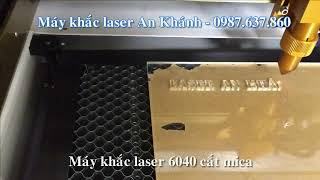 Cắt khắc mica sử dụng máy khắc laser 6040 tại An Khánh Laser