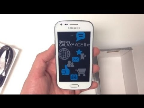 unboxing samsung galaxy ace 2x white youtube. Black Bedroom Furniture Sets. Home Design Ideas