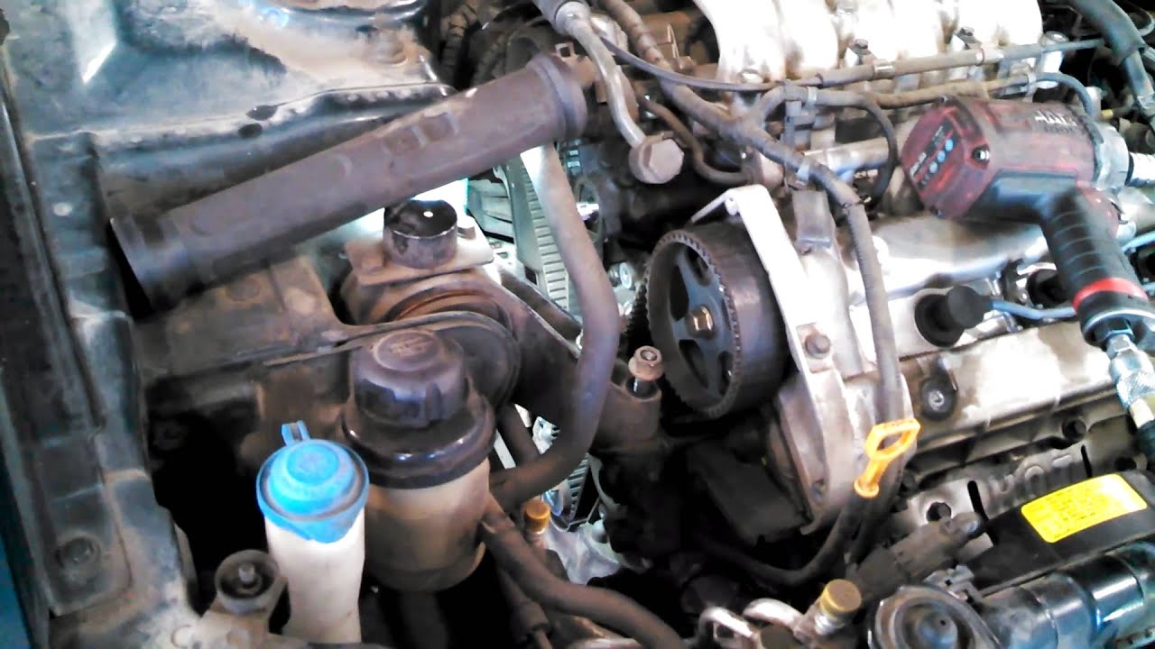 small resolution of timing belt replacement kia optima 2 7l 2001 2005 v6 water pump too install remove replace