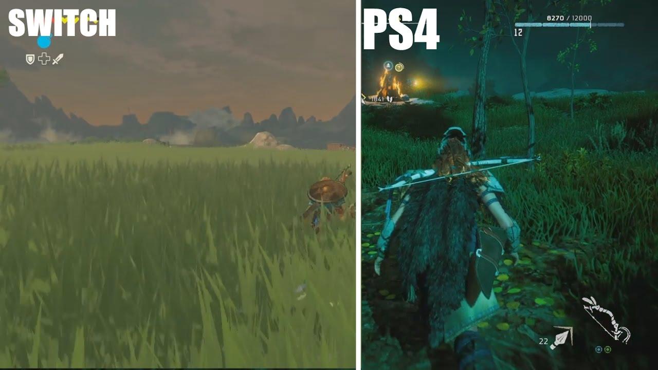 Surprenant Zelda Breath Of The Wild Ps4 the legend of zelda: breath of the wild ps4 vs switch graphics