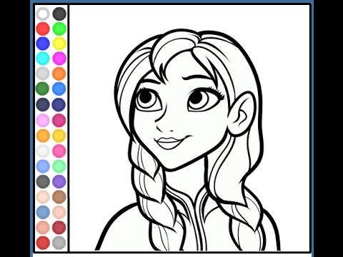 Anna Coloring Pages For Kids Anna Coloring Pages Youtube