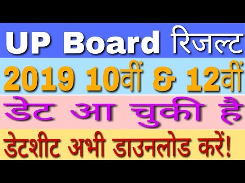 UP Board Result 2019 10th, 12th Class | यूपी