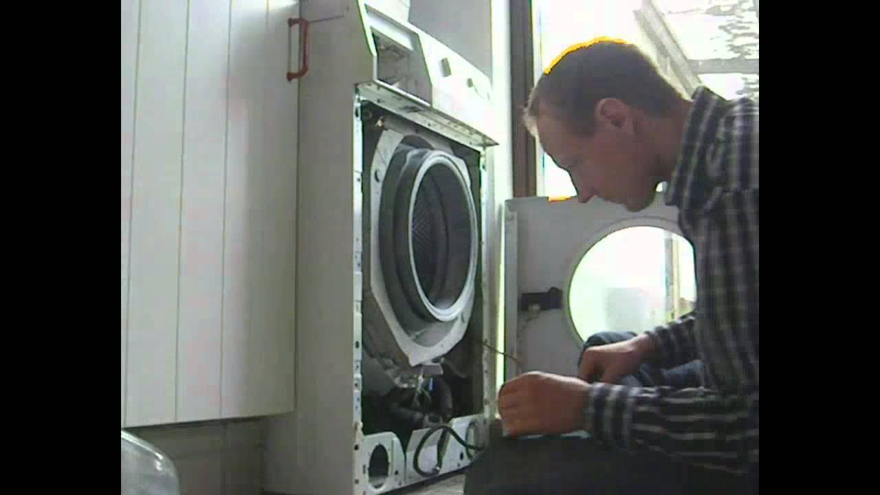 udskiftning af kul i vaskemaskine