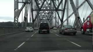 Driving over the Bay Bridge into San Francisco going home to Pacifica, CA