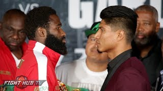 Adrien Broner vs. Mikey Garcia- Full Final Press Conference video & face off