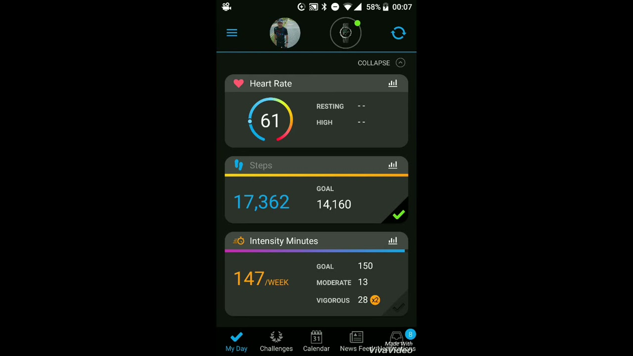 How to set heart rate parameter menu in garmin connect app - YouTube