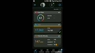 How to set heart rate parameter menu in garmin connect app