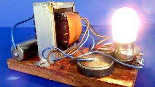 1.7V generator to 12V - Free energy generator with light bulb - Science experiment at home