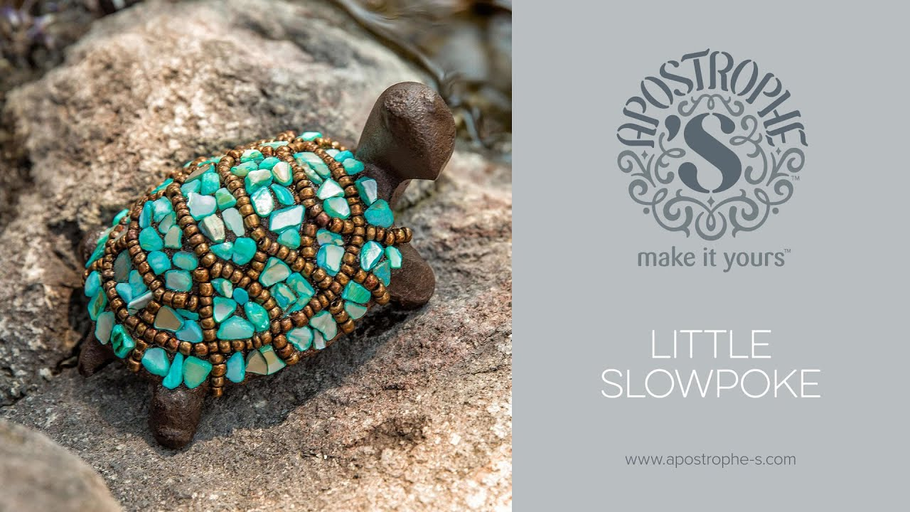 Stone Bead Turtle Yard Art Diy Mosaic Crafts Easy To Make Little Slowpoke Apostrophe S