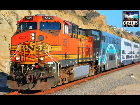 BNSF Freight Locomotives on Metrolink Commuter Trains ...