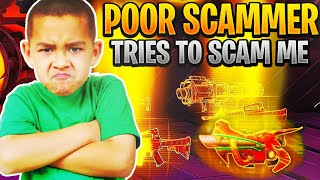 so the poorest scammer tried to scam me! (Scammer Gets Scammed) Fortnite Save The World