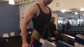 90 lbs Weighted Dips for 8 Reps