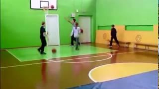 Урок физкультуры в 7 классе. Баскетбол.