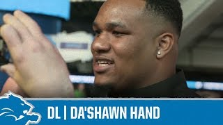 Da'Shawn Hand on his favorite recipes | Detroit Lions Sound Bites