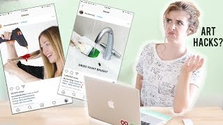 ARTIST REACTS To Bad Instagram ART HACKS?!