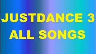 Just Dance 3 All Songs & Dances