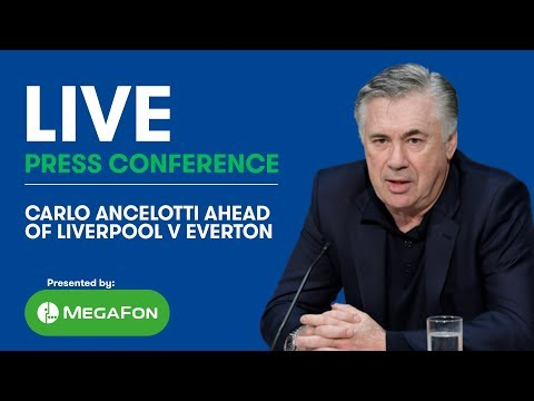 LIVE! CARLO ANCELOTTI'S PRESS CONFERENCE: LIVERPOOL V EVERTON