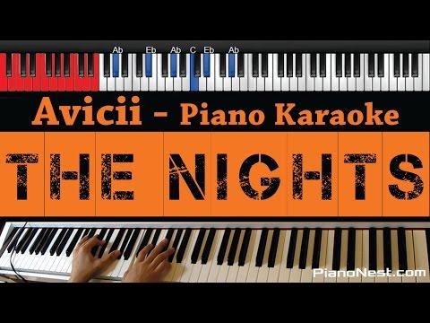 Avicii - The Nights - HIGHER Key (Piano Karaoke / Sing Along)
