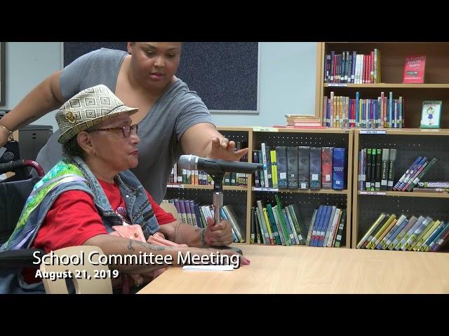 School Committee 08 21 19