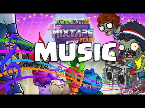 Plants Vs Zombies 2 Música Vueltacasete de Neón Boombox Zombie