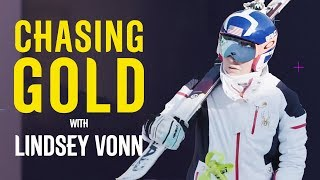 Lindsey Vonn Races In Final Downhill Training Session | Chasing Gold | Pyeongchang 2018 | Eurosport