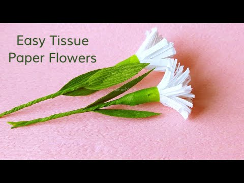 How to Make Tissue Paper Flower |DIY Paper Craft ideas| Easy Recycle and Reuse  Paper Videos
