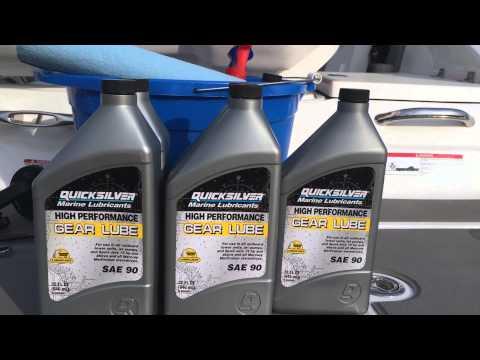 Gear Oil Change Bravo 3 On Mercruiser 5 0 YouTube