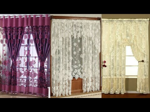 Stylish curtains in net and lace fabric