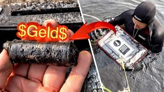 MONEY found in LOCKED SAFE!!! - Valuable Finds Treasure Hunting Underwater (Scuba Diving)
