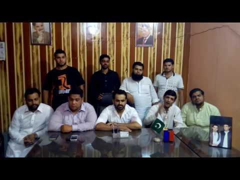 Youth Wing PMLN Gujranwala PP 91 Dr. Tahir Qadri k khilaf apny khilayat ka izhar karty howy