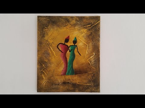 Two African Ladies - Acrylic painting