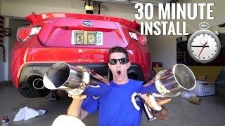 30 MINUTE EXHAUST CHALLENGE | Subaru BRZ
