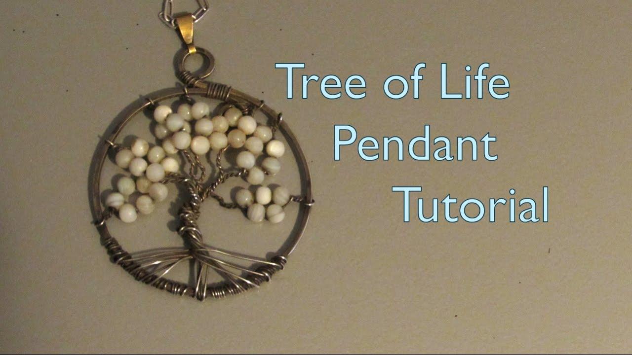 Tree of life pendant tutorial youtube tree of life pendant tutorial mozeypictures Image collections