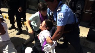 Police arrest protesters at anti-Ortega march in Nicaragua