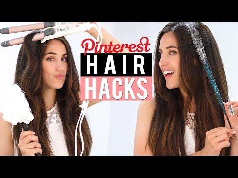 PROBANDO TIPS DE CABELLO DE PINTEREST | PINTEREST HAIR HACKS TESTED