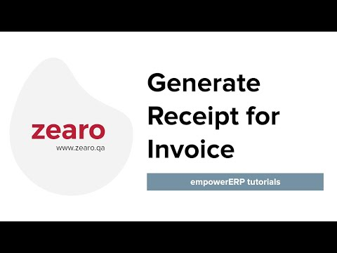 How to generate receipt for invoice