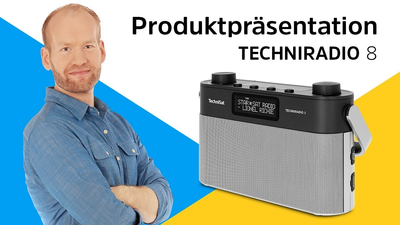 Video: TECHNIRADIO 8 | Portables DAB+/UKW-Stereoradio mit Sprachansagen. | TechniSat