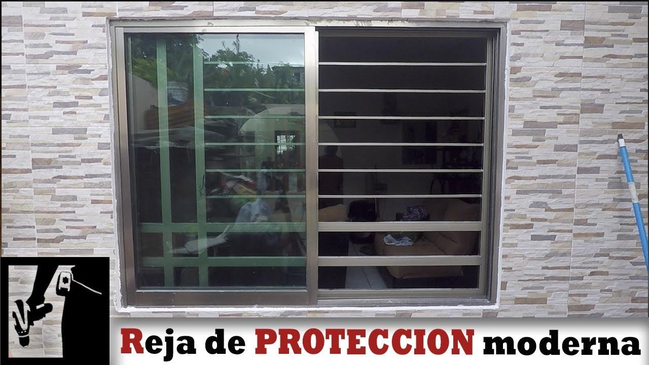 C mo hacer reja de protecci n moderna para ventana for Cuanto cuesta el aluminio para ventanas