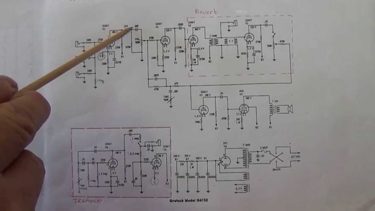 how to scratch build a vintage amp part2 schematic review and modifications [ 1280 x 720 Pixel ]