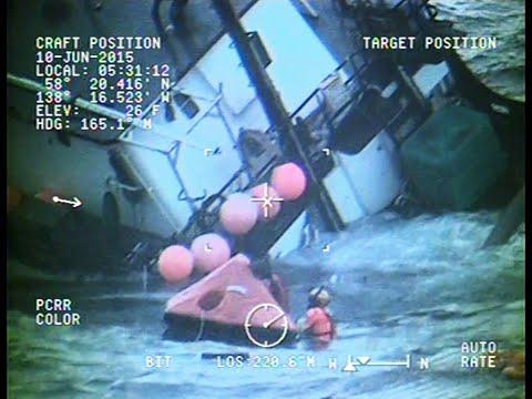 Coast Guard Rescue Swimmer Deploys Into Gulf Of Alaska, Rescues Three
