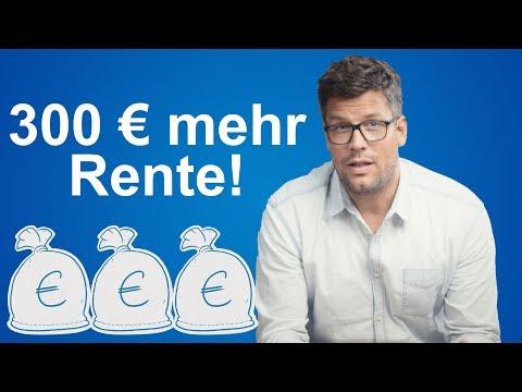 Mit nur 25 Euro pro Monat 300 Euro mehr Rente bekommen - AnyoneCan