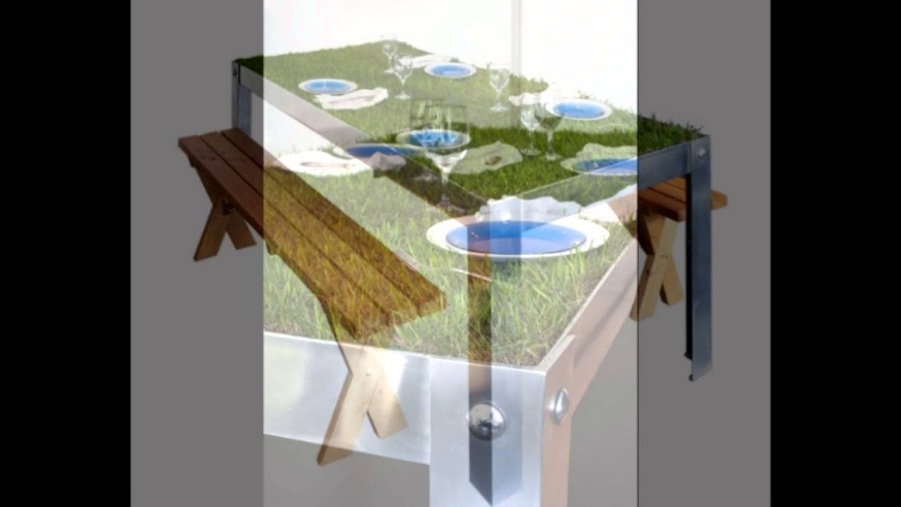 PicNYC table with life grass table top