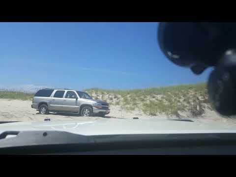 Double fail on Outer Banks Hatteras National Seashore. 2wd beach driving stuck truck double rescue