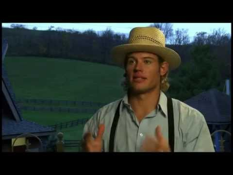 Trevor Donovan behind the scenes of Love Finds You in Charm
