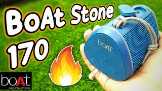 Boat stone 170:BoAt 170 portable Bluetooth speaker unboxing & review | boat Bluetooth speaker 170