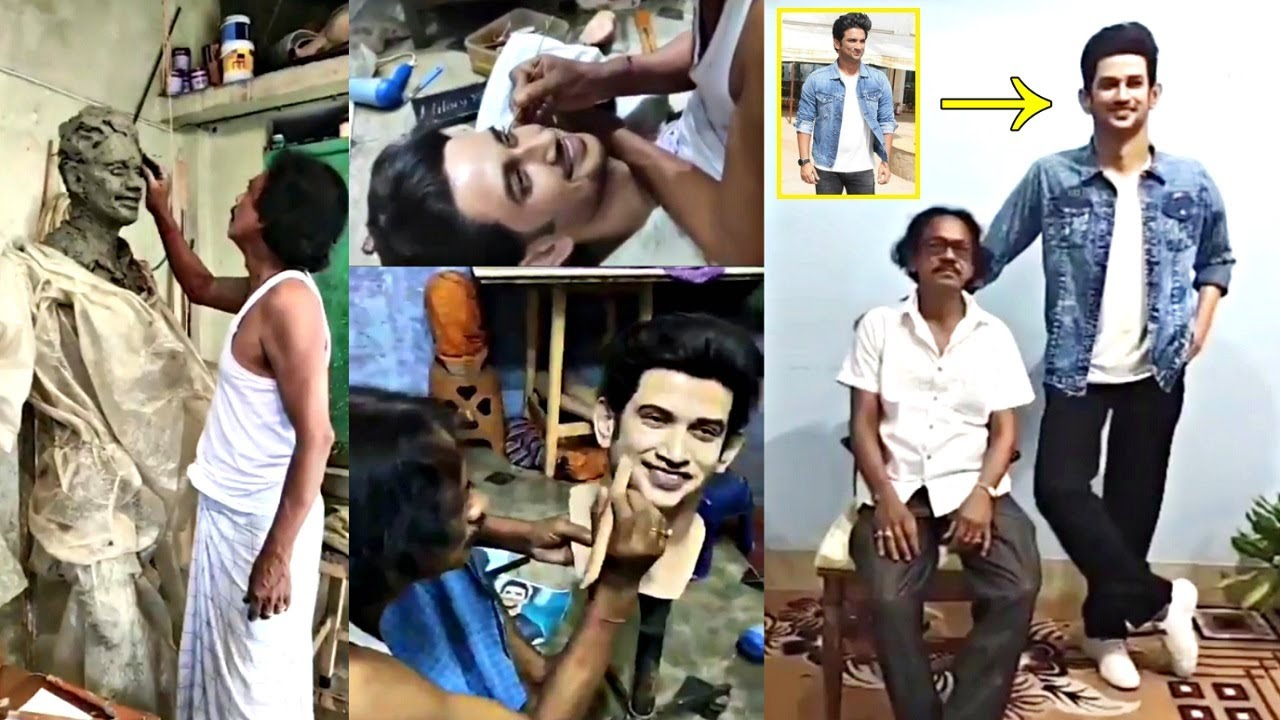 Sushant Singh Rajput WAX Statue Tribute By Sukanto Roy A Sculptor From West Bengal